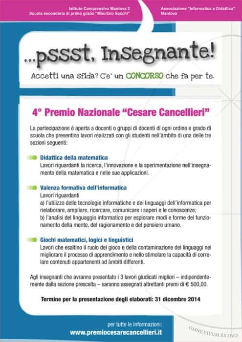 2014 Premio Cesare Cancellieri Locandina
