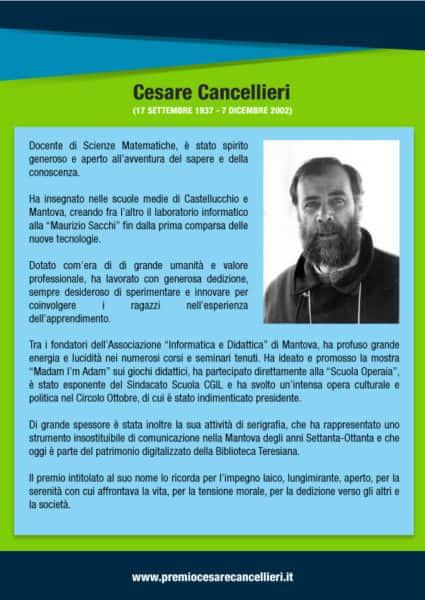 2018 Premio Cesare Cancellieri Locandina Back