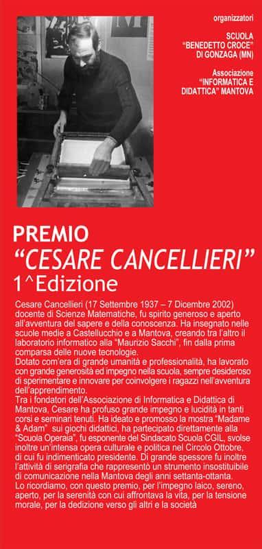 Locandina Premio nazionale scuole 'Cesare Cancellieri'